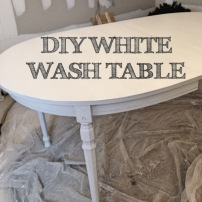 DIY White Washed Table