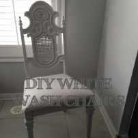 DIY White Washed Chair