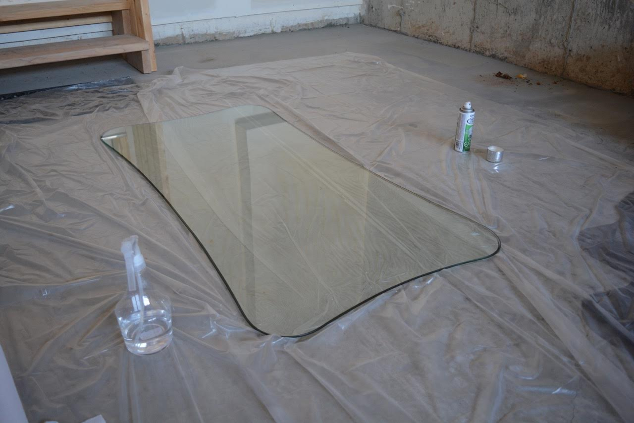 Can i spray paint glass table top for How to make a glass table