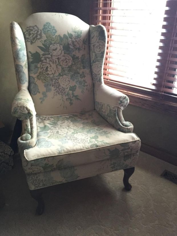 Jaclyn Colville Wingback Chair Before