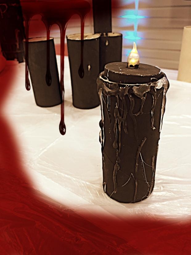 DIY Halloween Decor Candle