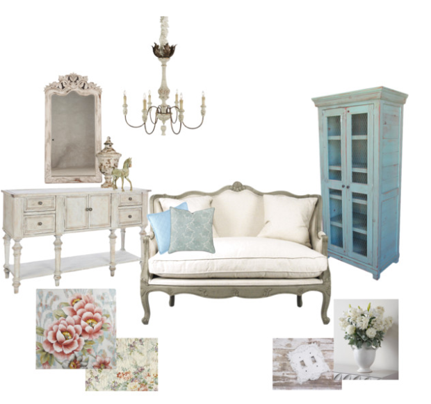 Shabby Chic Mood Board