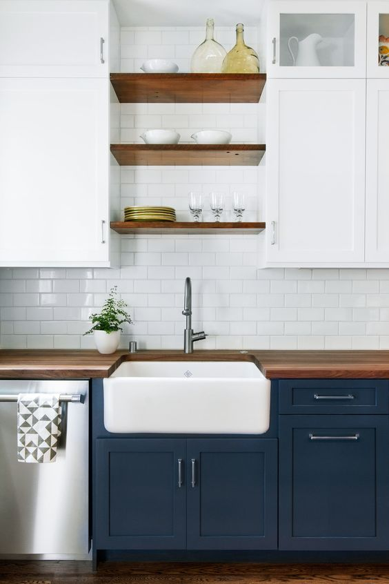 TRENDY TUESDAY NAVY BLUE CABINETS JACLYN COLVILLE